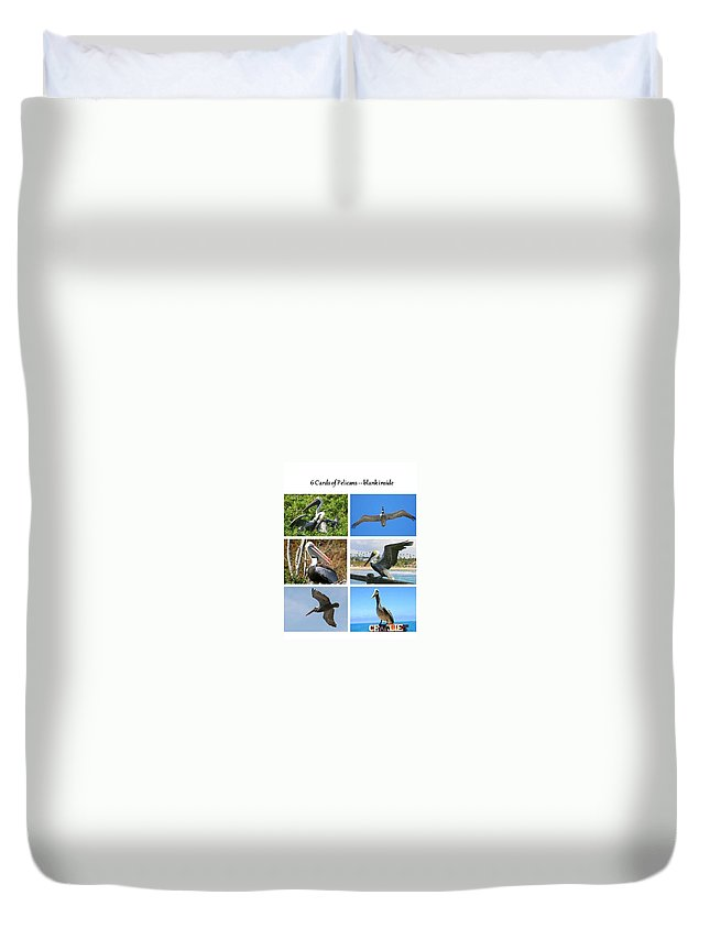Brown Pelican Duvet Cover featuring the photograph Birds - Pelicans - Boxed Cards by Laurel Talabere