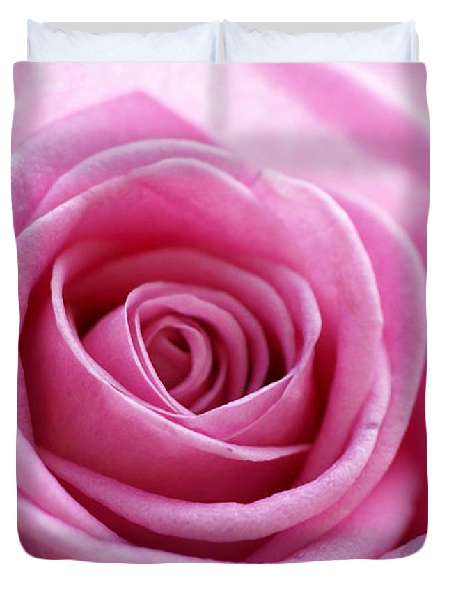 Pink Duvet Cover featuring the photograph Birthday Pink by Carol Lynch