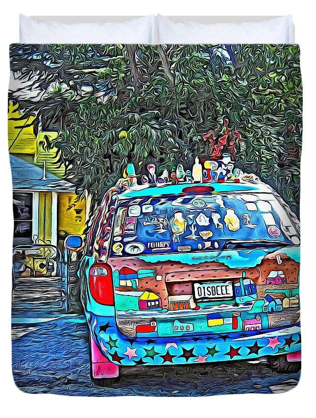 Bisbee Arizona Art Car Duvet Cover For Sale By Rebecca Korpita - Bisbee car show