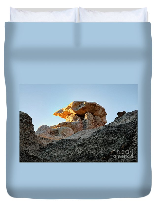 Textures Duvet Cover featuring the photograph Bisti Land Form 2 by Vivian Christopher