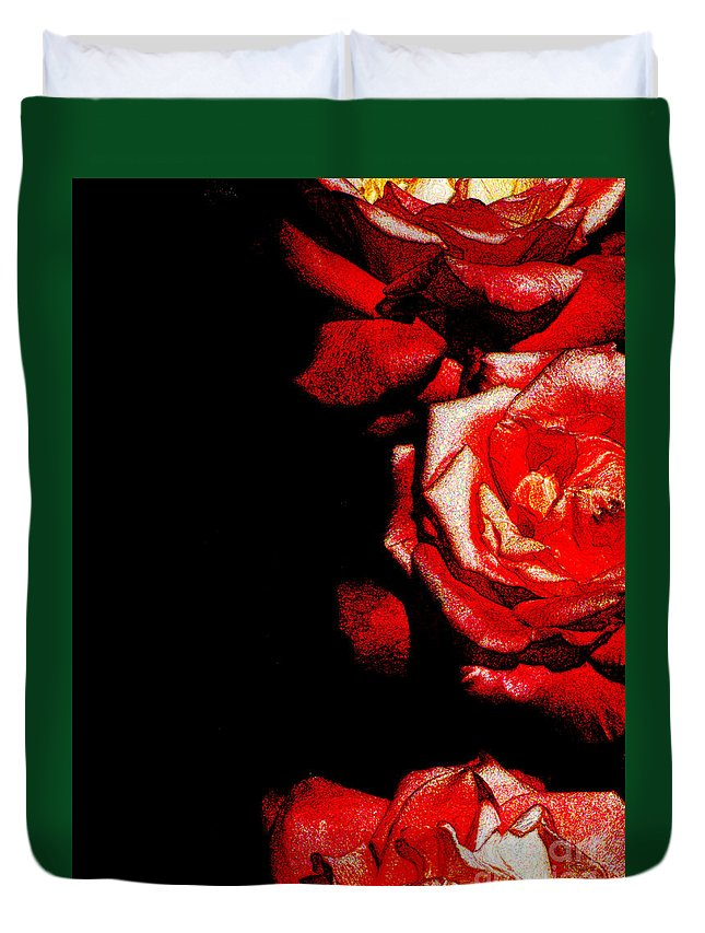 Ron Tackett Photography Duvet Cover featuring the photograph Black And Rose by Ron Tackett
