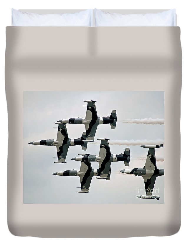 Black Duvet Cover featuring the photograph Black Diamonds 1 by Stephen Whalen