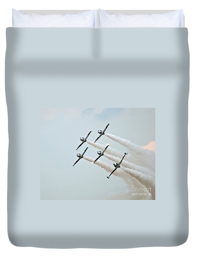 Black Duvet Cover featuring the photograph Black Diamonds In Low by Stephen Whalen