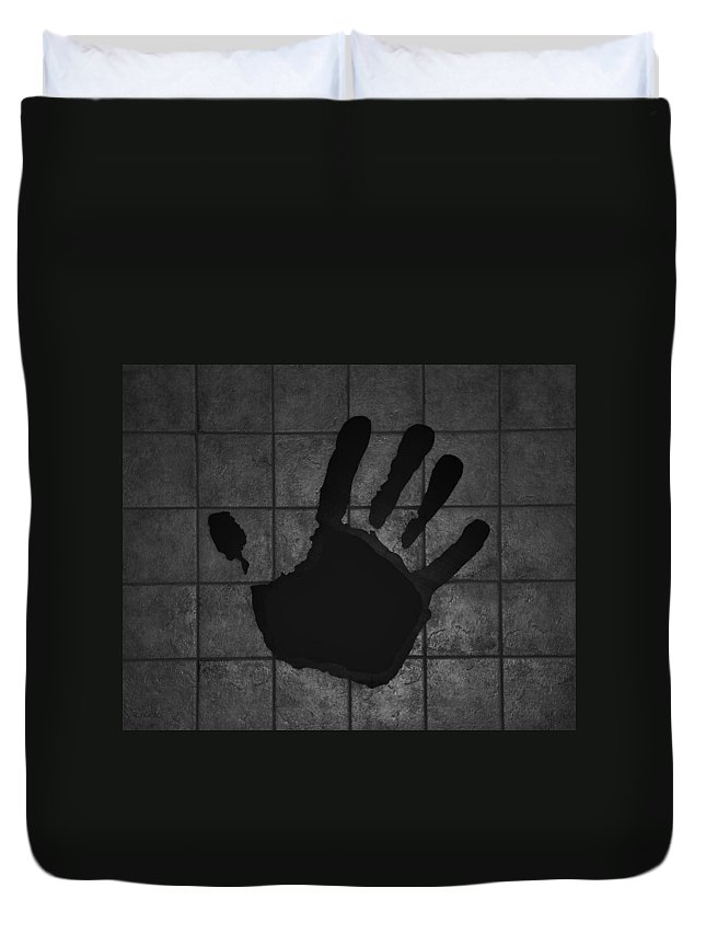 Hand Duvet Cover featuring the photograph Black Hand by Rob Hans