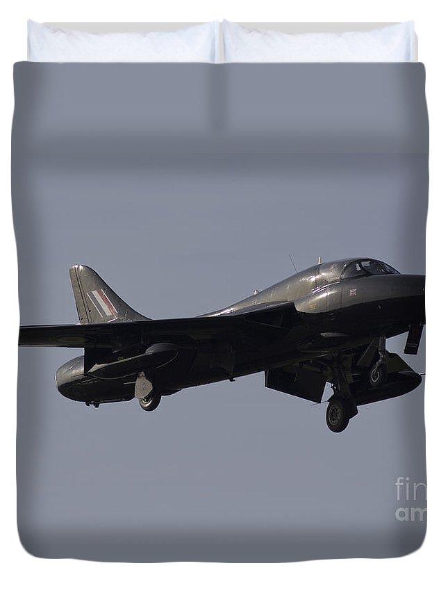 Hawker Hunter Duvet Cover featuring the digital art Black Hunter by J Biggadike