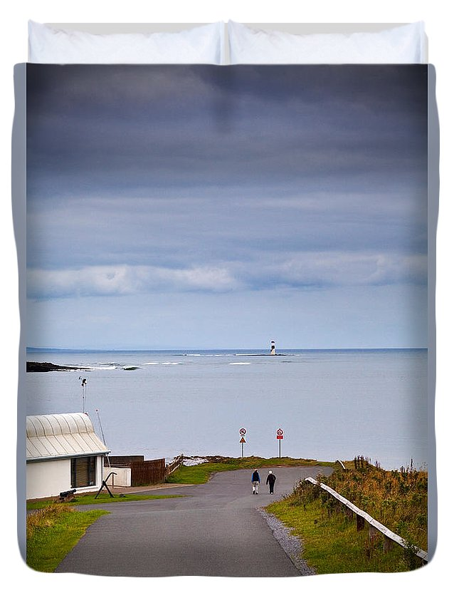 Photography Duvet Cover featuring the photograph Blackrock Lighthouse, Off Rosses Point by Panoramic Images