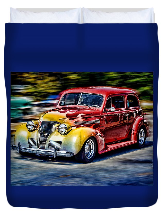 Retro Duvet Cover featuring the photograph Blast From The Past by Larry Bishop