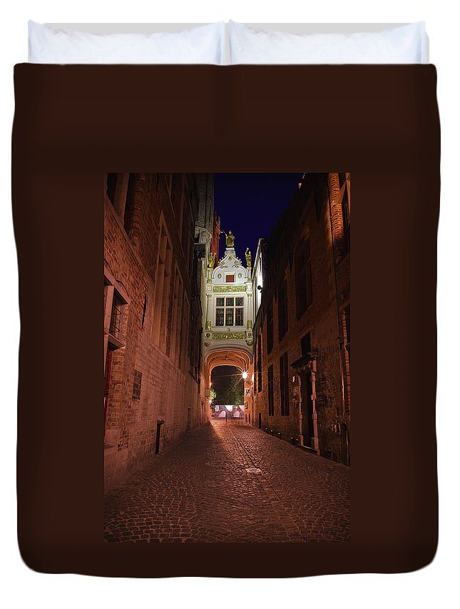 3scape Duvet Cover featuring the photograph Blind Donkey Alley by Adam Romanowicz