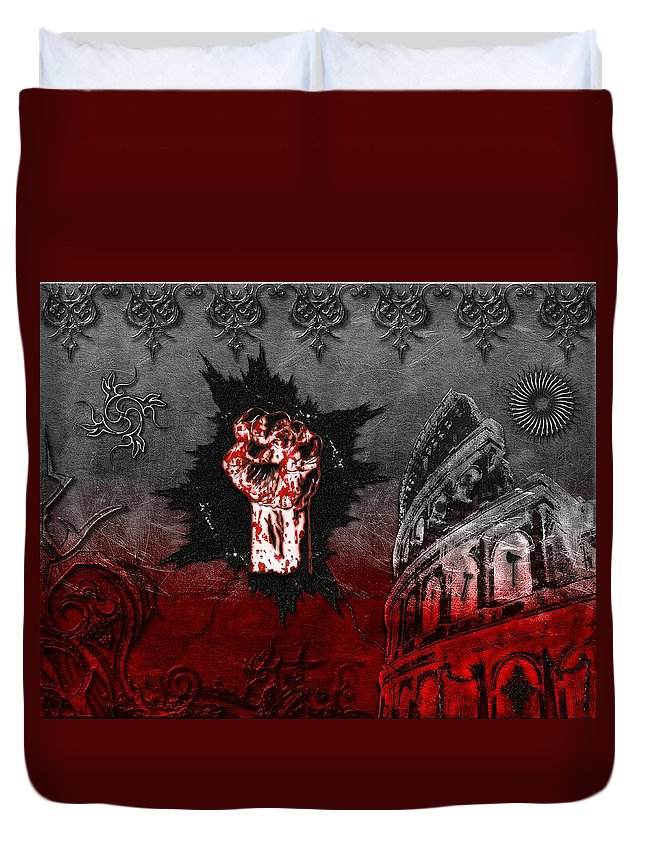 Blood Duvet Cover featuring the digital art Blood Lust by Michael Damiani