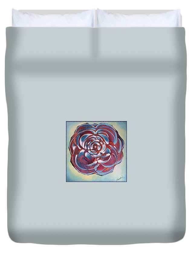 Bloom Duvet Cover featuring the painting Bloom II by Shadia Derbyshire