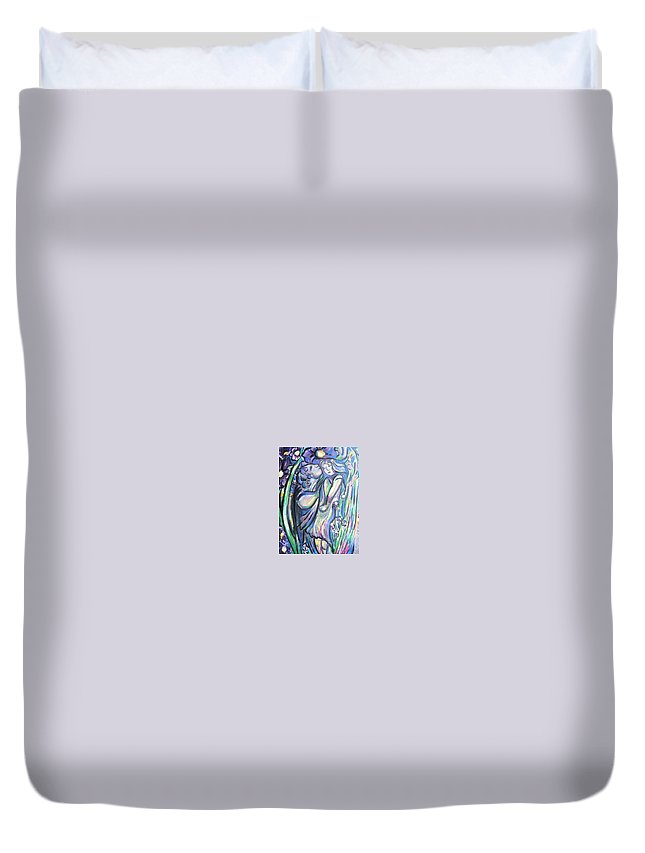 Female Duvet Cover featuring the painting Bloomed by Dawn Fisher