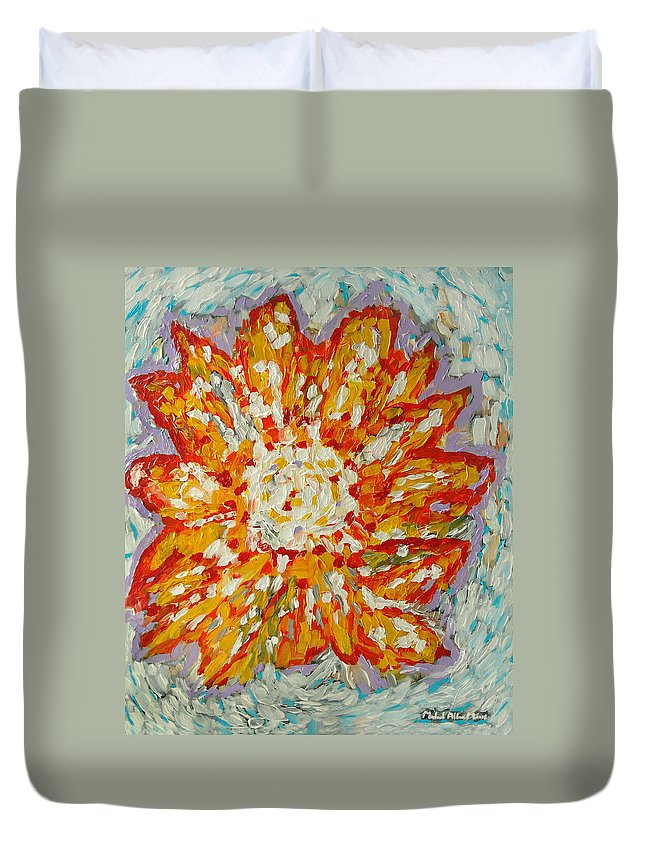 Acrylic Paintings Duvet Cover featuring the painting Blossom by Michael Moore