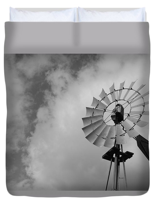 Windmill Duvet Cover featuring the photograph Blowin by Gale Cochran-Smith