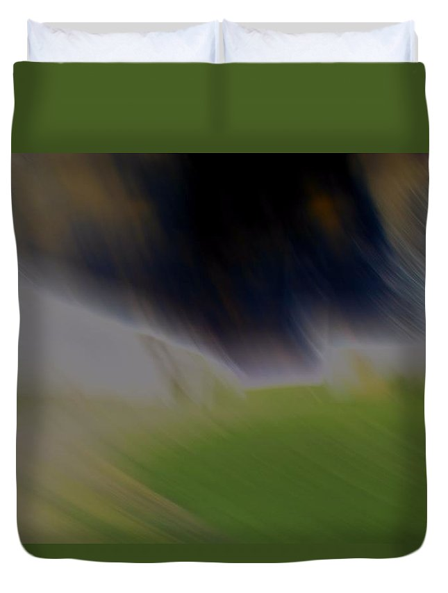 Blown Away Abstract Duvet Cover featuring the photograph Blown Away Abstract by Dan Sproul
