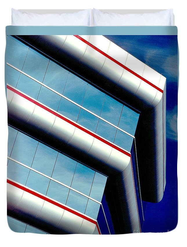 Gary Gingrich Duvet Cover featuring the photograph Blue Angled by Gary Gingrich Galleries