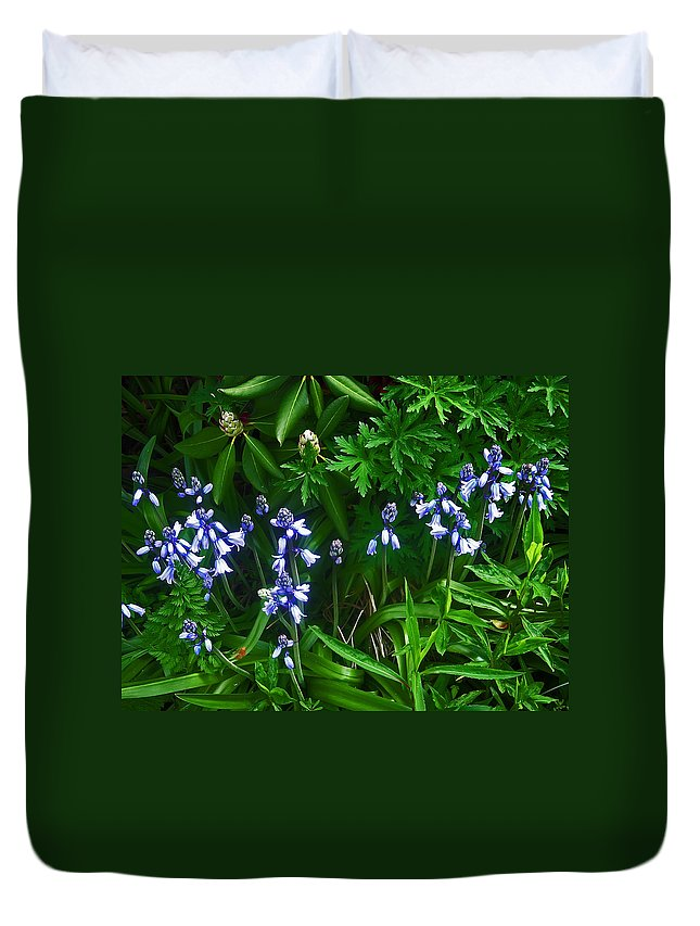 Flower Duvet Cover featuring the photograph Blue Bells by Aimee L Maher ALM GALLERY