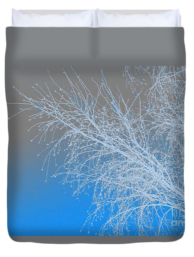 Blue Duvet Cover featuring the digital art Blue Branches by Carol Lynch