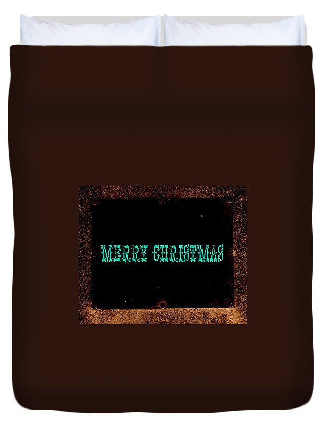 Christmas Duvet Cover featuring the photograph Blue Christmas by Chris Berry