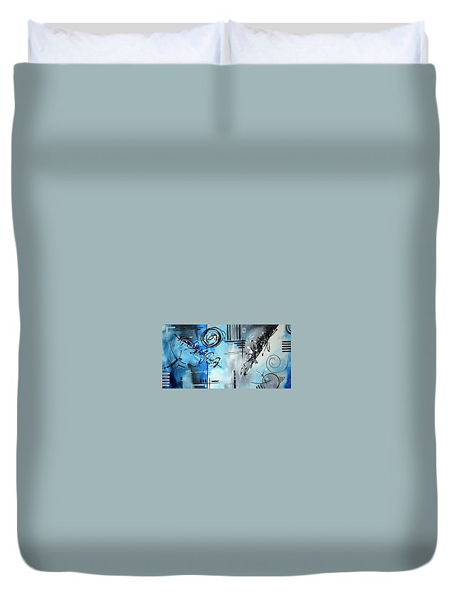 Wall Duvet Cover featuring the painting Blue Divinity By Madart by Megan Duncanson