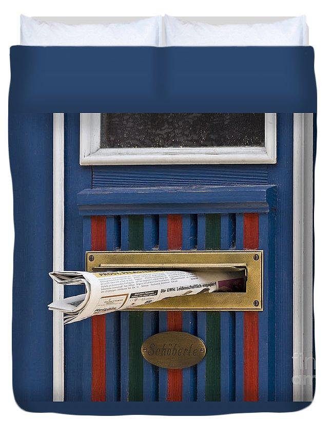 Koehrer-wagner_heiko Duvet Cover featuring the photograph Blue Door by Heiko Koehrer-Wagner