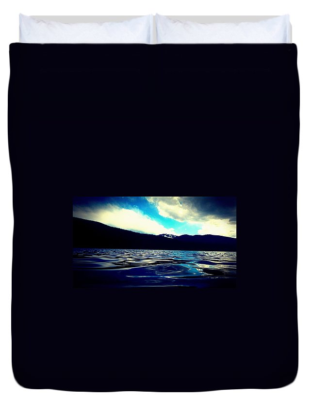 Landscape Duvet Cover featuring the photograph Blue Echo by Alma Reyes