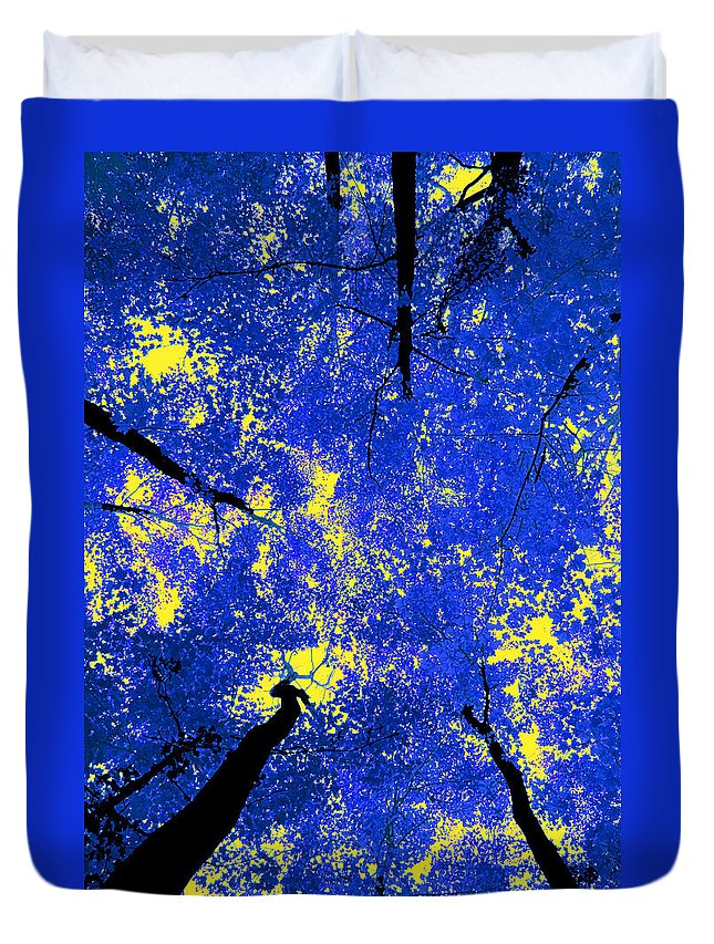 Forest Duvet Cover featuring the photograph Blue Forest by Andre Aleksis