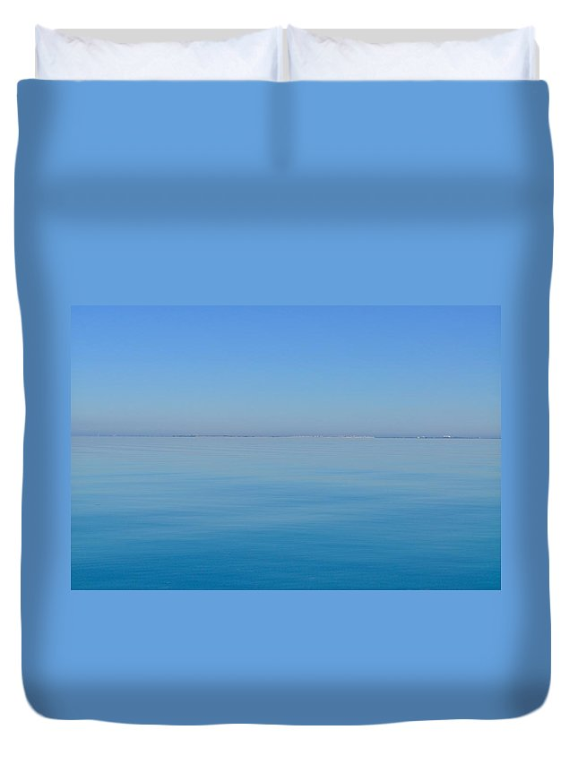 Blue Ocean Duvet Cover featuring the photograph Blue Glass by Kristina Deane