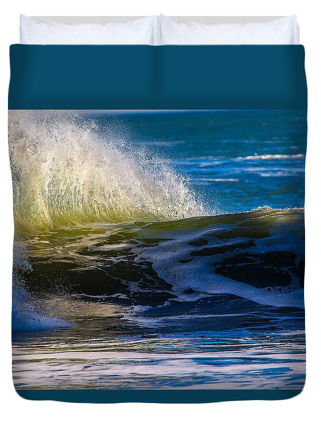 Ocean Duvet Cover featuring the photograph Blue Green Get Away by Brian Williamson