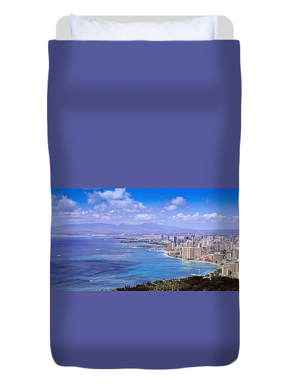 Waikiki Duvet Cover featuring the photograph Blue Hawaii by Les Palenik