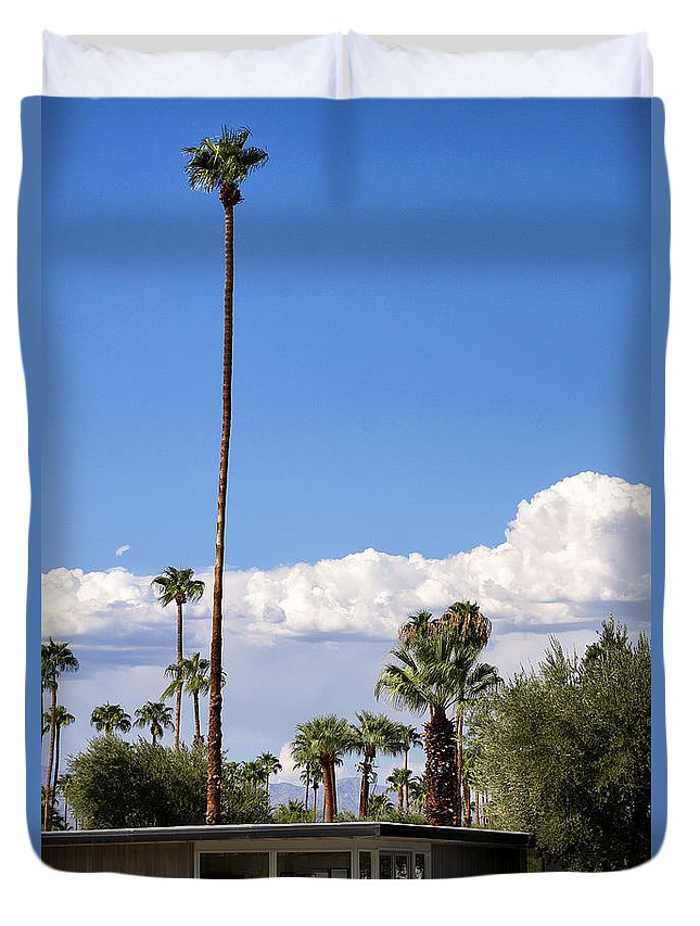 Palm Springs Duvet Cover featuring the photograph Blue Horizon Palm Springs by William Dey