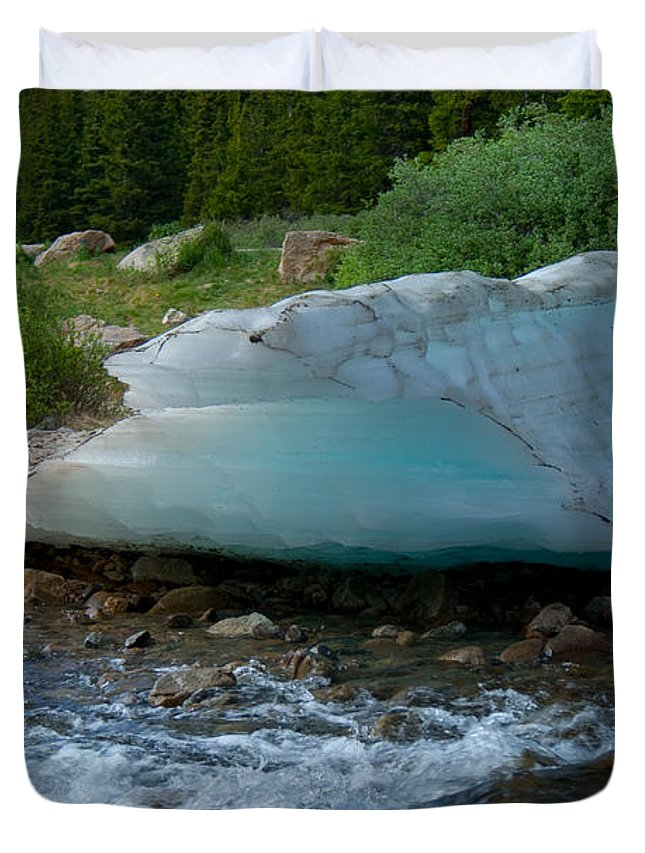 Blue Ice Duvet Cover featuring the photograph Blue Ice by Angus Hooper Iii