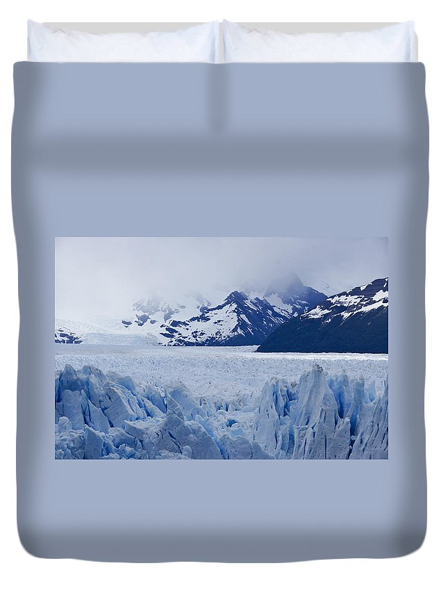 Argentina Duvet Cover featuring the photograph Blue Ice by Michele Burgess