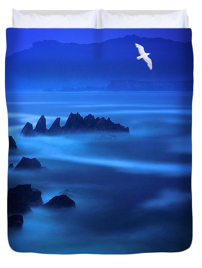 Republic Of Duvet Cover featuring the photograph Rock Of Blues by Edmund Nagele