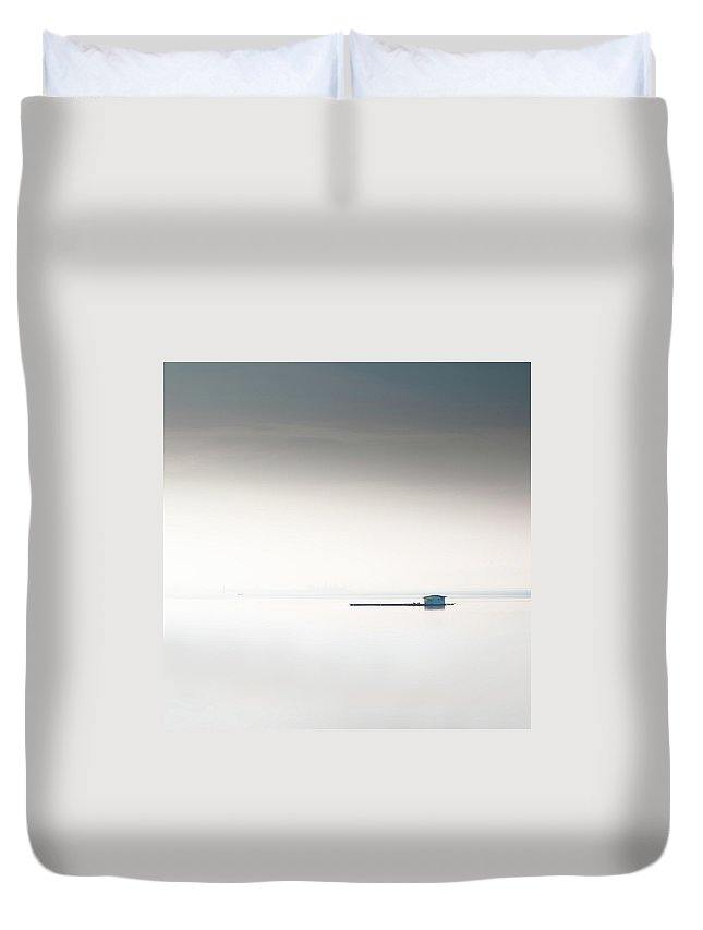 Tranquility Duvet Cover featuring the photograph Blue Kelong by Khairul Fitri Mohamad
