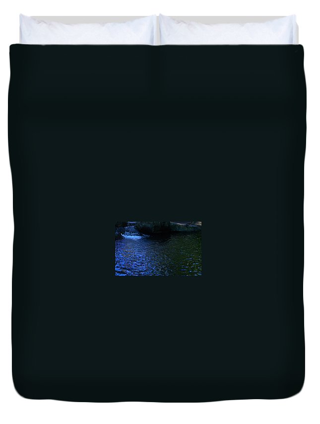 Water Duvet Cover featuring the photograph Blue Lagoon by Denise Mazzocco