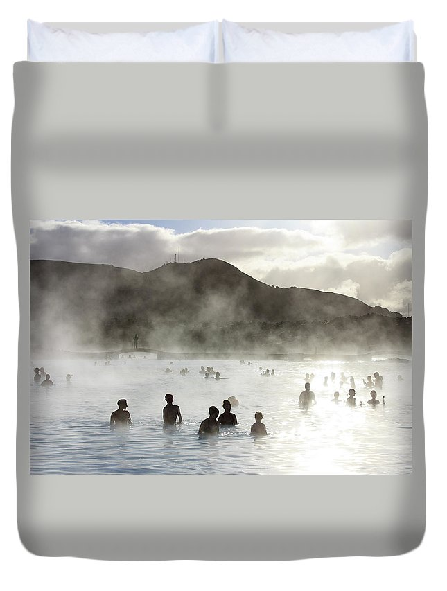Spa Duvet Cover featuring the photograph Blue Lagoon Geothermal Spa by Thomas Janisch