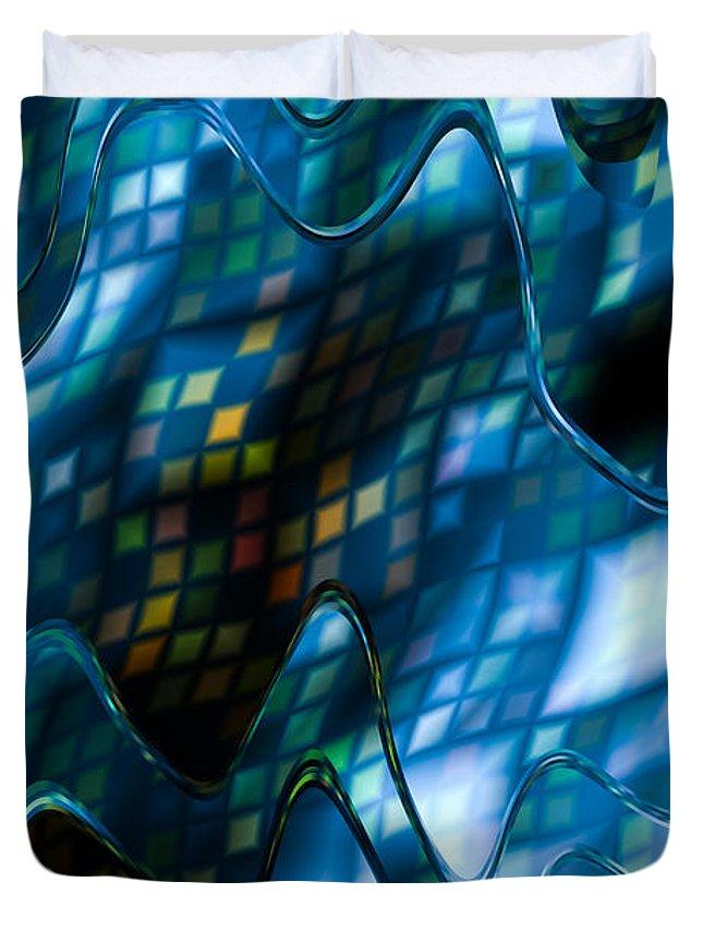 Blue Duvet Cover featuring the digital art Blue Mist by Hakon Soreide