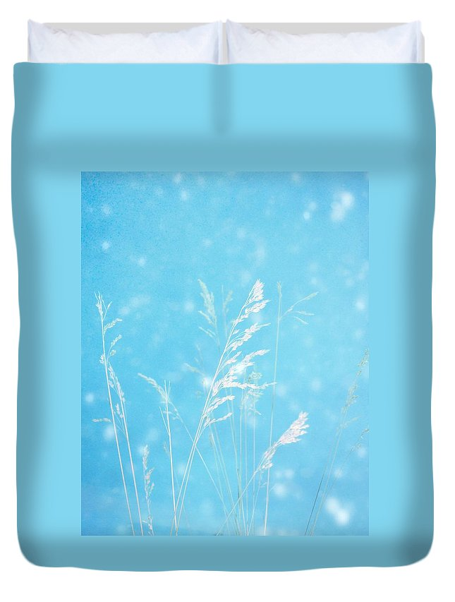 Light Blue Duvet Cover featuring the photograph Blue Nature by Gothicrow Images