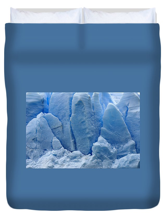 Chile Duvet Cover featuring the photograph Blue On Blue by Michele Burgess