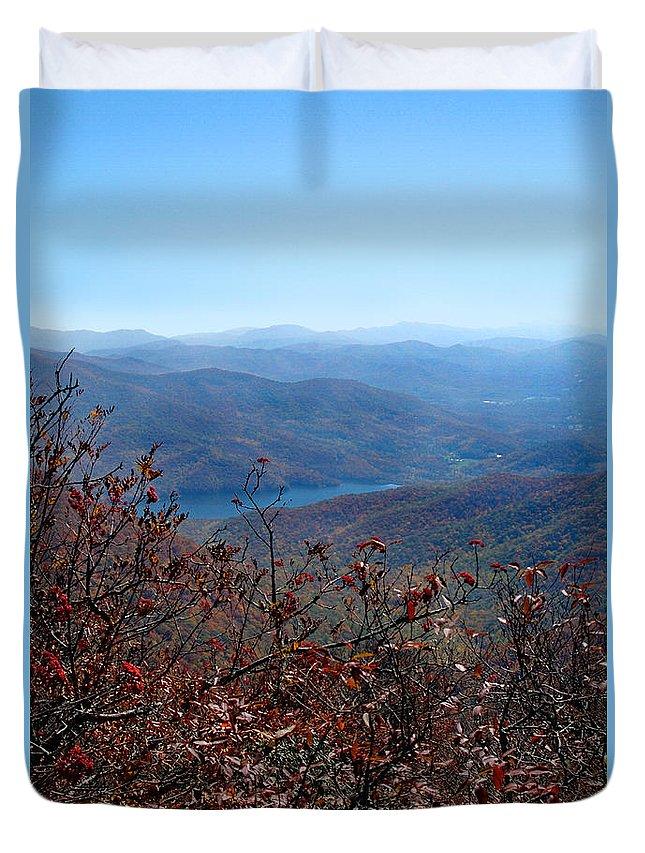 Pisgah National Forest Duvet Cover featuring the photograph Blue Ridge Parkway IIi by Jeff McJunkin