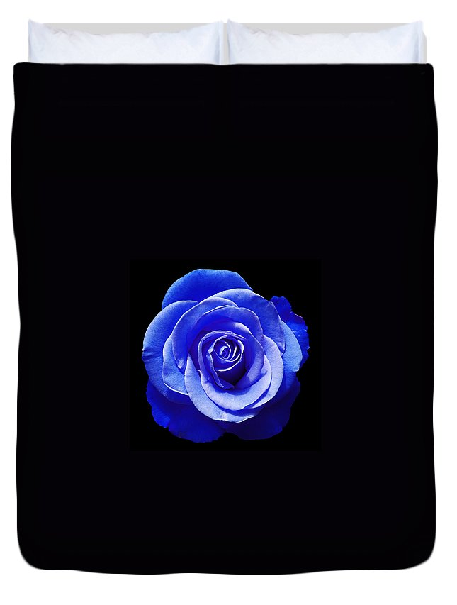 Rose Duvet Cover featuring the photograph Blue Rose by Aimee L Maher ALM GALLERY