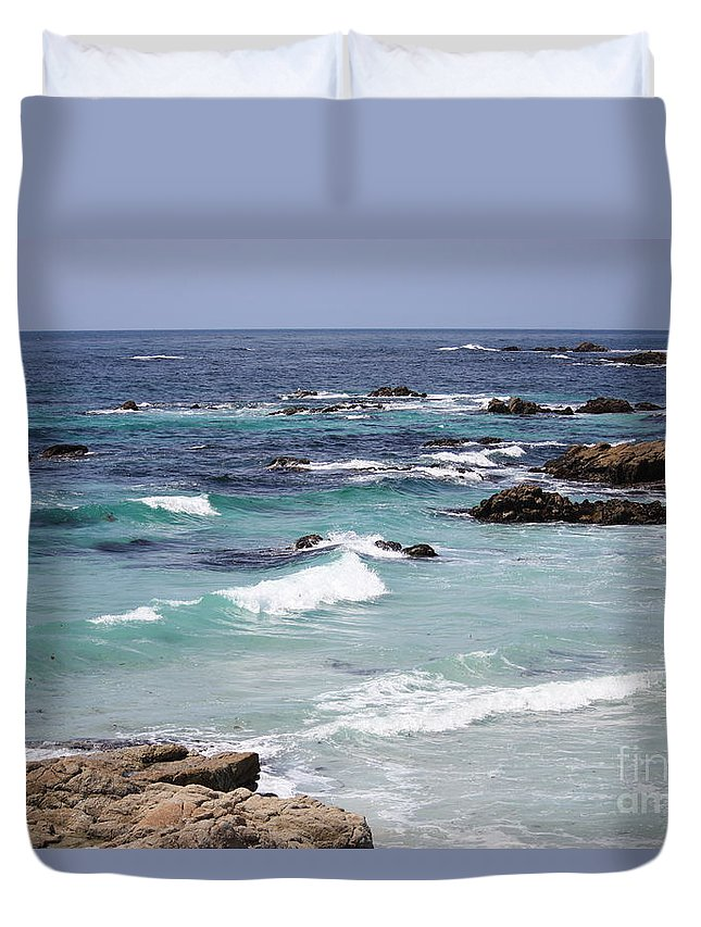 Blue Surf Duvet Cover featuring the photograph Blue Surf by Carol Groenen