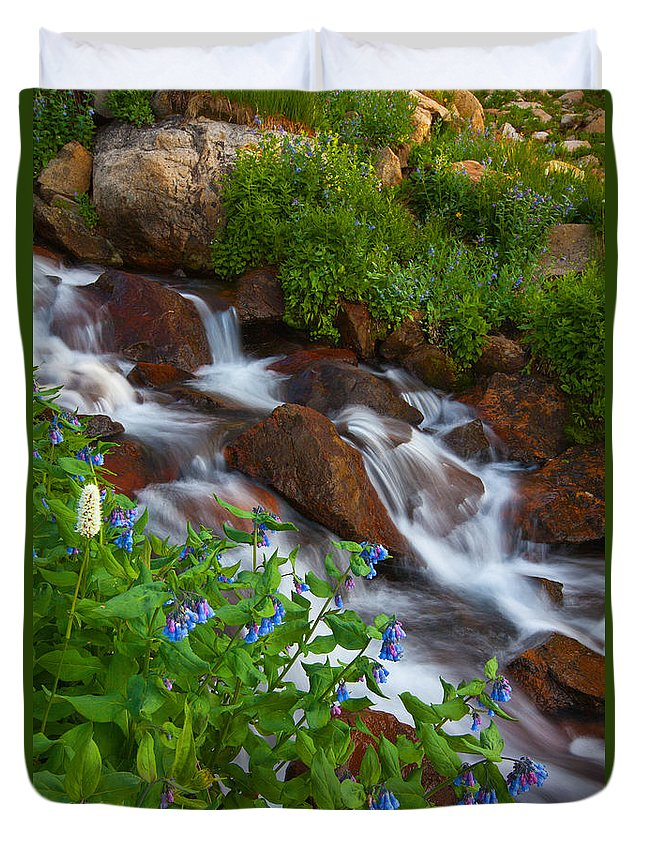 Stream Duvet Cover featuring the photograph Bluebell Creek by Darren White