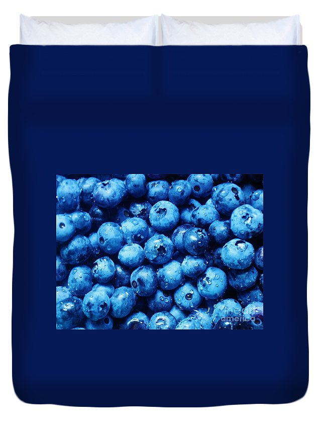Blueberries Duvet Cover featuring the photograph Blueberries by Janell R Colburn