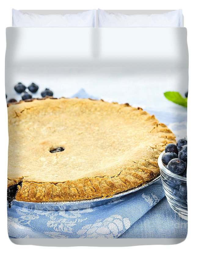 Blueberry Duvet Cover featuring the photograph Blueberry Pie by Elena Elisseeva