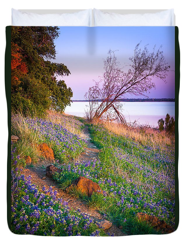 America Duvet Cover featuring the photograph Bluebonnet Trail by Inge Johnsson