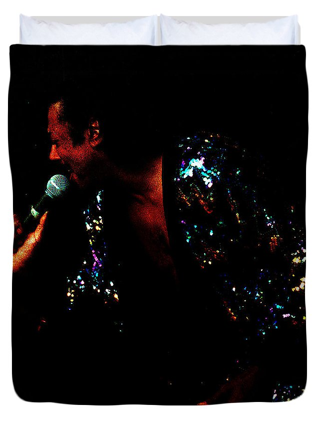 Blues Singer Duvet Cover featuring the photograph Blues Lover by Leon Hollins III