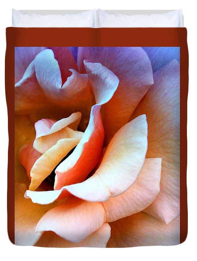 Rose Duvet Cover featuring the photograph Blush Pink Palm Springs by William Dey