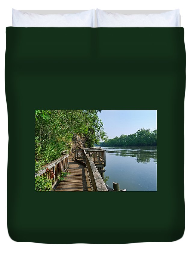 Boardwalk Duvet Cover featuring the photograph Boardwalk by Melinda Fawver