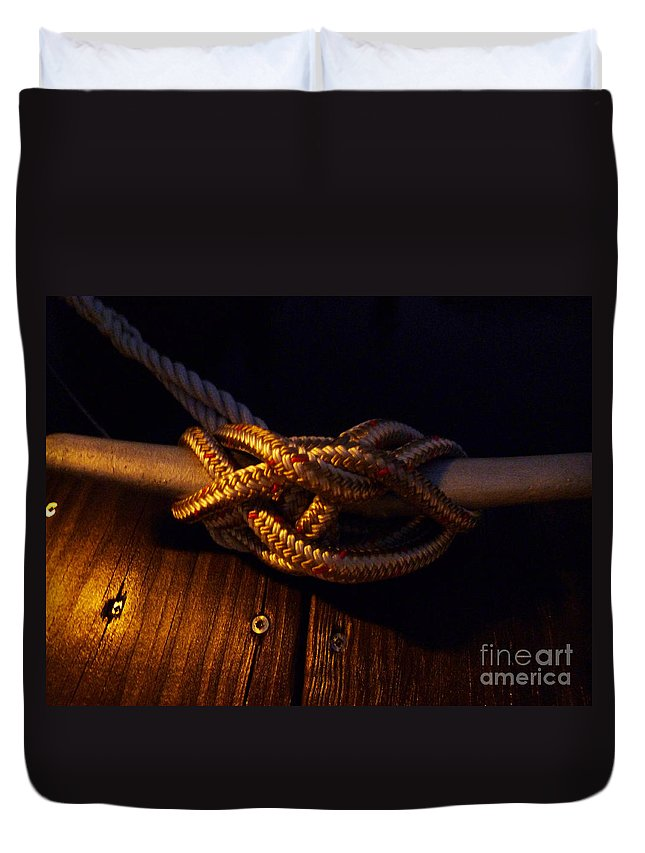 Boats Duvet Cover featuring the photograph Boat Tie by Karen Lambert